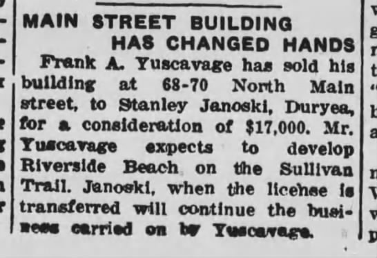 - MAIN STREET BUILDING HAS CHANGED HANDS Frank A....