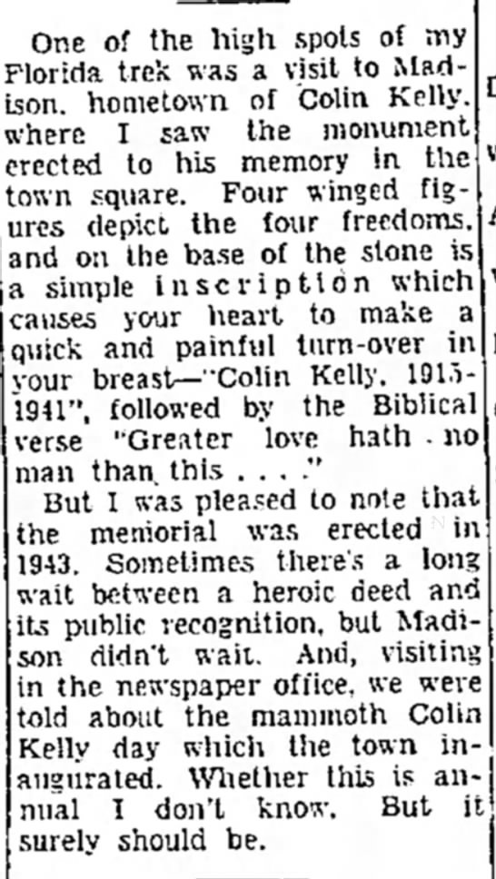 The Gastonia Gazette (Gastonia, North Carolina) 29 May 1957  Page 4 - One of the high spots of my lorida. trek was a...