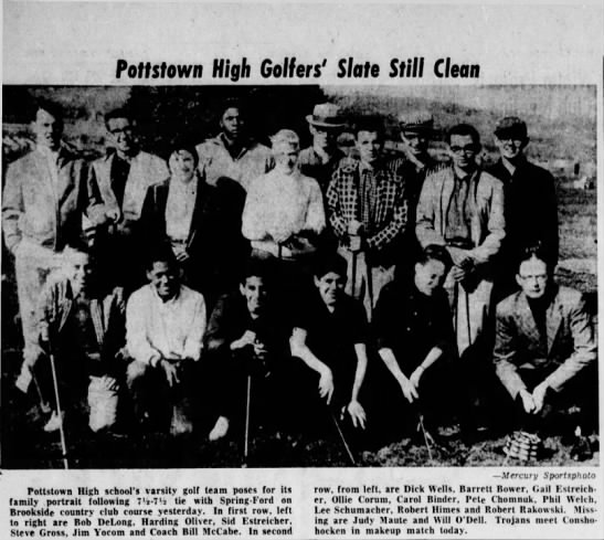 Harding Oliver Jr Golf team - Pottstown High Golfers' Slate Still Clean...