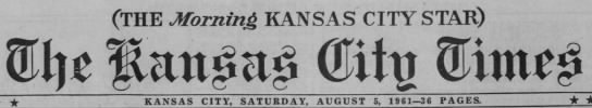 the kansas city times saturday august 5 1961