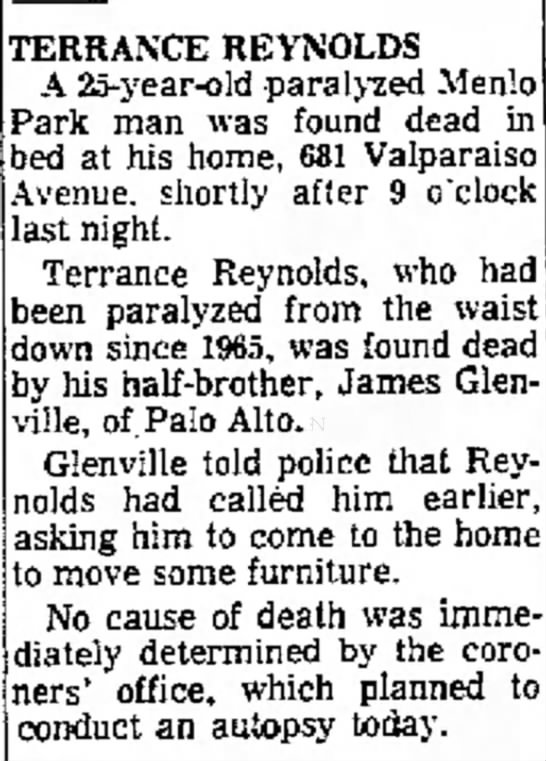 The Times 01/16/1970 Page 23 - TERRANCE REFOLDS A 25 - year - old paraled...