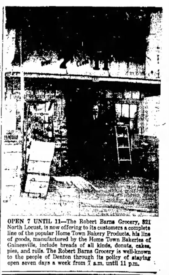 Barns Grocery 1948.1 - OPEN 7 UNTIL 11—The Robert Banii Grocery, 821...