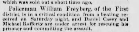 Wm. Freyberg - which was sold out a short time ago, rolicrinnu...