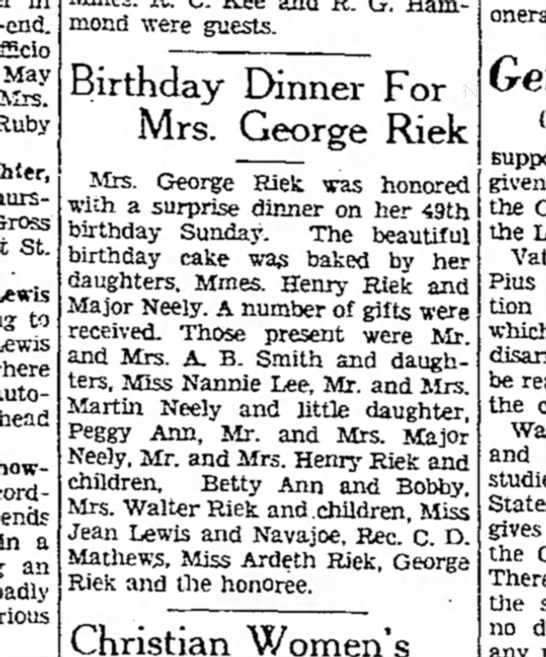 Denton Record-Chronicle March 21,1935 - May Mrs. Rubv Gross St. Lewis to Lewis where...
