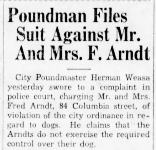 Fred Arndt dog violation - Poundman Files Suit Against Mr. And Mrs. F....