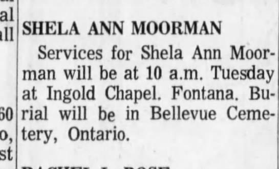 sheila moorman - SHELA ANN MOORMAN Services for Shela Ann...