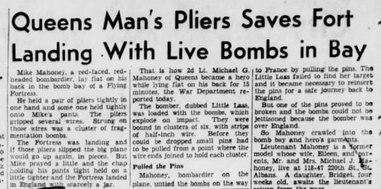 2nd Cousin - Queens Man's Pliers Saves Fort Landing With...