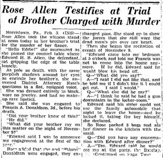 - Rose Allen Testifies at Trial of Brother...