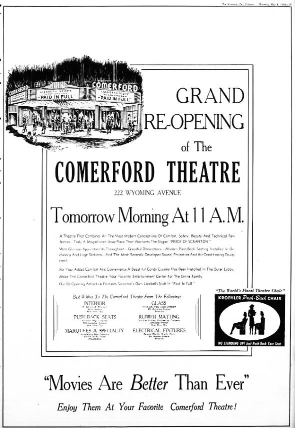 Comerford Theatre reopening