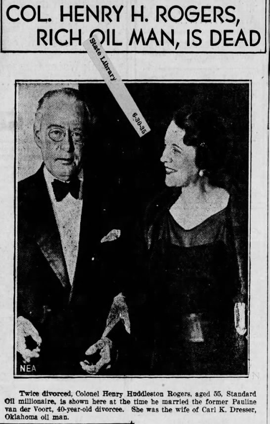 """Paul Dresser Rogers_pic_1935 - COL HENRY RICH QIL s """" Twice divorced, Colonel..."""