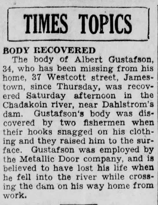 - TIMES TOPICS BODY RECOVERED The body of Albert...