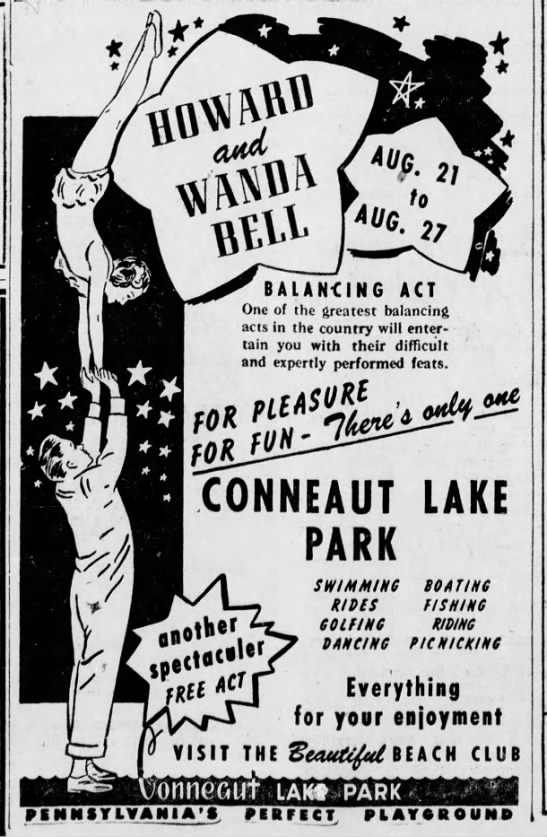 New Herald 8/18/1950 Howard and Wanda Ad - 21 to 27 6 BALANCING ACT One of the greatest...