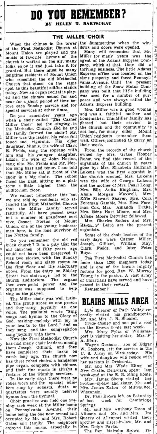 E. Clark Fields & family-TDN-p.6-7 Aug 1954 - DO YOU REMEMBER? BY HELEN T. BARTSCHAT THE...