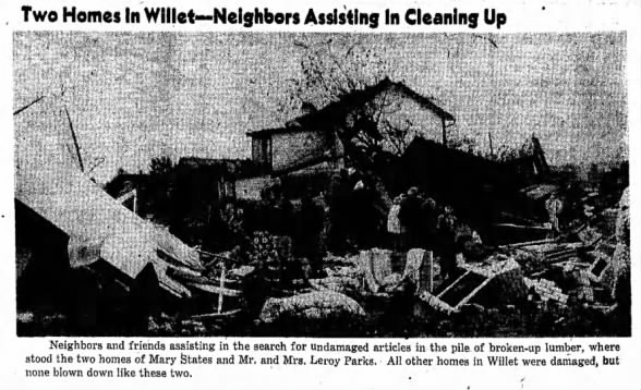 Willet Tornado Damage