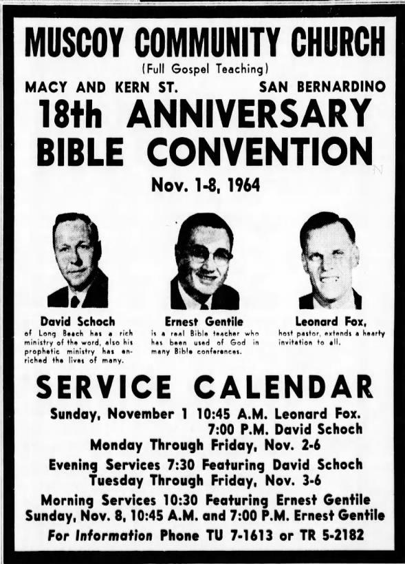 1964 CONVENTION - Fox, Gentile, and Schoch