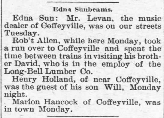 Henry Holland visits son Will - Edn-4 Edn-4 Edn-4 Sunbeams. Edna Sun: Mr....