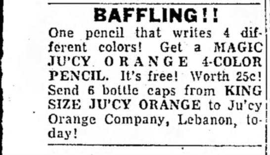 Ju'cy Orange Pencil - BAFFLING!! One pencil that writes 4 different...
