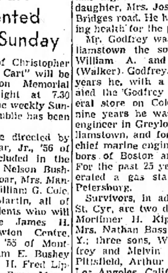 "Arthur Godfrey - Sunday Christopher a Cart"" will be Memorial al..."