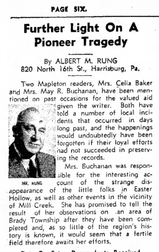 May Robley Buchanan-column-TDN-p.6-17 Nov 1954 - PAGI SIX. MR. KUNG Further Light On A Pioneer...