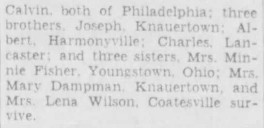 Fred W. Wunderlich Death Notice - Page 2 - v'ive. Calvin, both of Philadelphia; three...