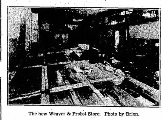 Weaver & Probst Store1936 Flood Lock Haven PA - The new Weaver & Probst Store. Photo by Brion.