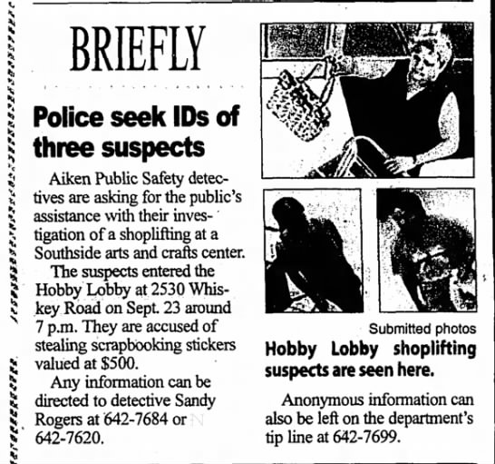 - I I BRIEFLY Police seek IDs of three suspects...