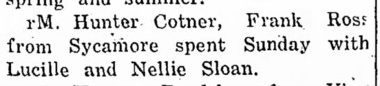 Hunter CotnerMar 12, 1926The Democrat American - i-M. Hunter Cotner, Frank Ross from Sycamore...