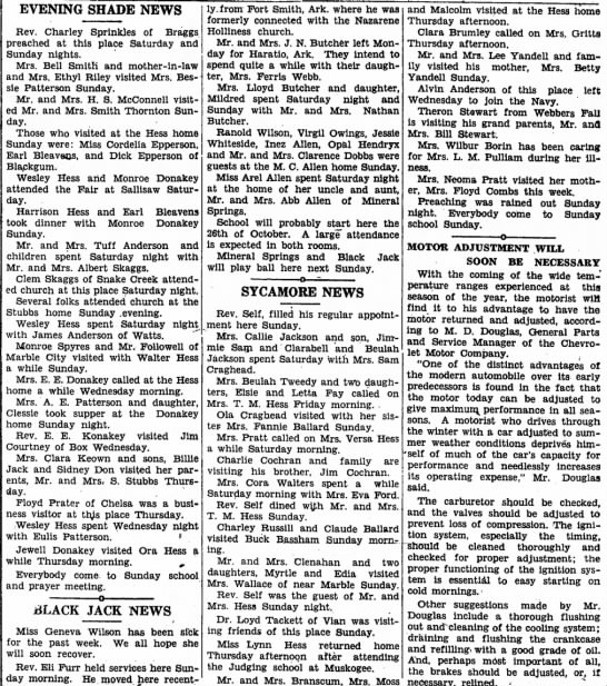 Numerous Hess articles