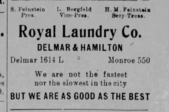 Royal Laundry Advertisement