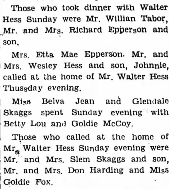 Walter and Wesley Hess Sallisaw, OK
