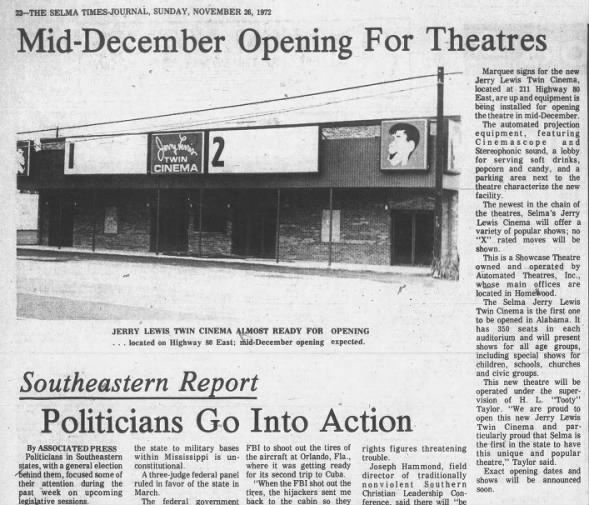 Jerry Lewis cinema opening
