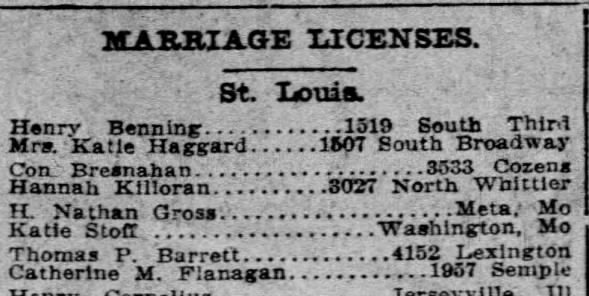 BARRETT FLANAGAN marriage license