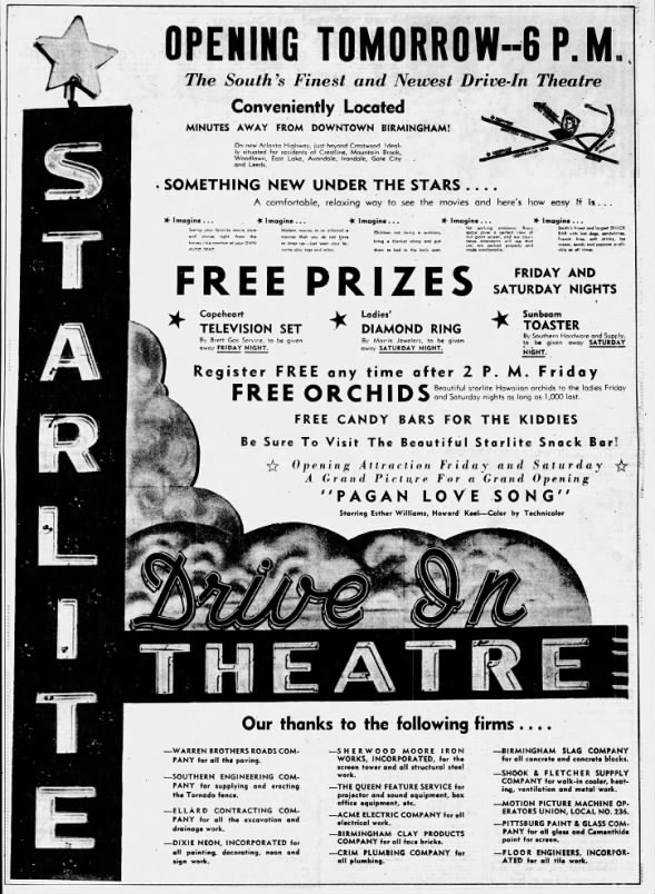 Starlite Drive-In opening