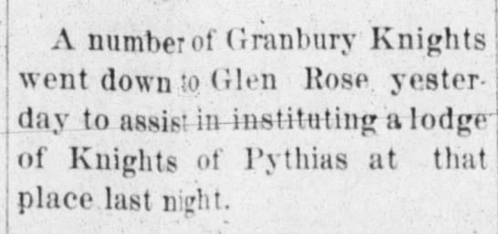 1892 K of P - A number of Granbury Knights went down iQ (ilon...