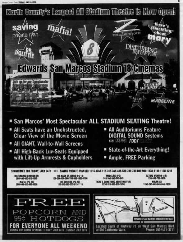Edwards San Marcos Stadium 18 opening