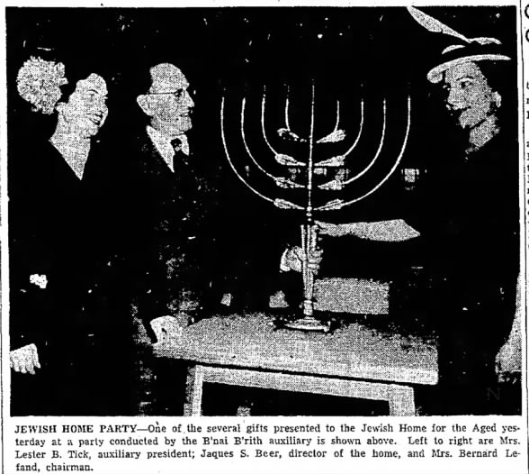 Hannukiah, Chanukah menorah, presented 1951