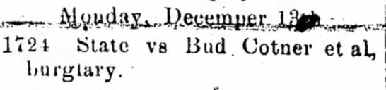 Bud Cotner Dec 3, 1915