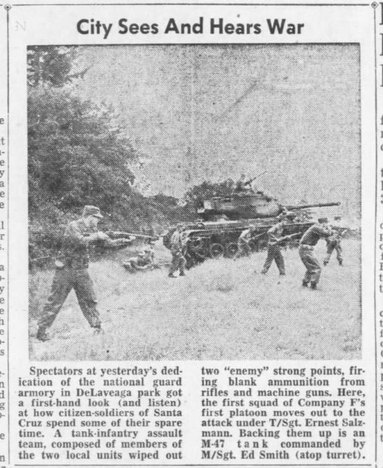 "Tanks in Delaveaga Park 2 - a City Sees And Hears War I"" , v , Ki..."