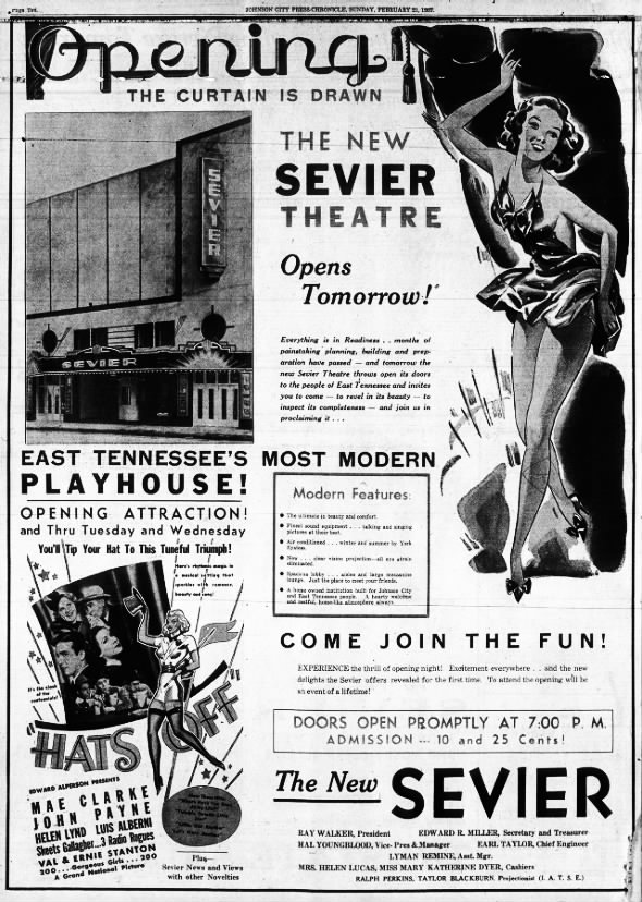 Sevier theatre opening