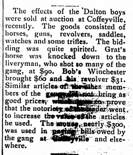 dalton boys belongings were auction off 1983