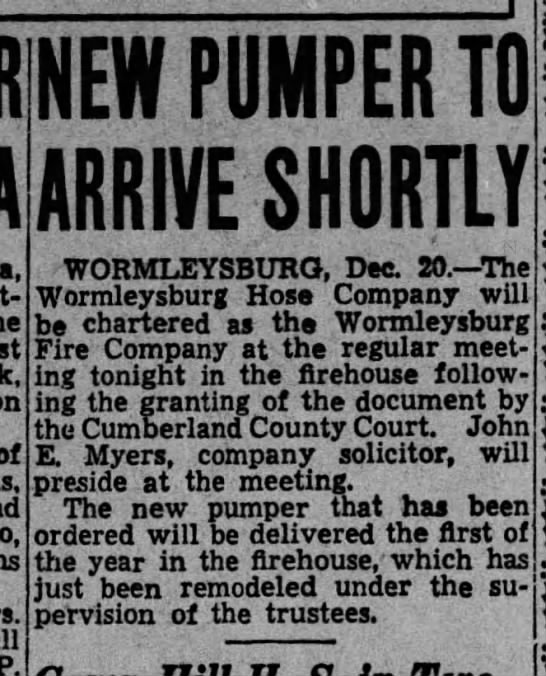 Worm 35-12-20 charter - NEW PUMPER TO ARRIVE SHORTLY of P....