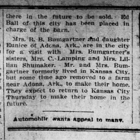 Fort Scott Daily Mirror, 9-16-1919 - there in the future to -be -be sold. Ed Ball ot...