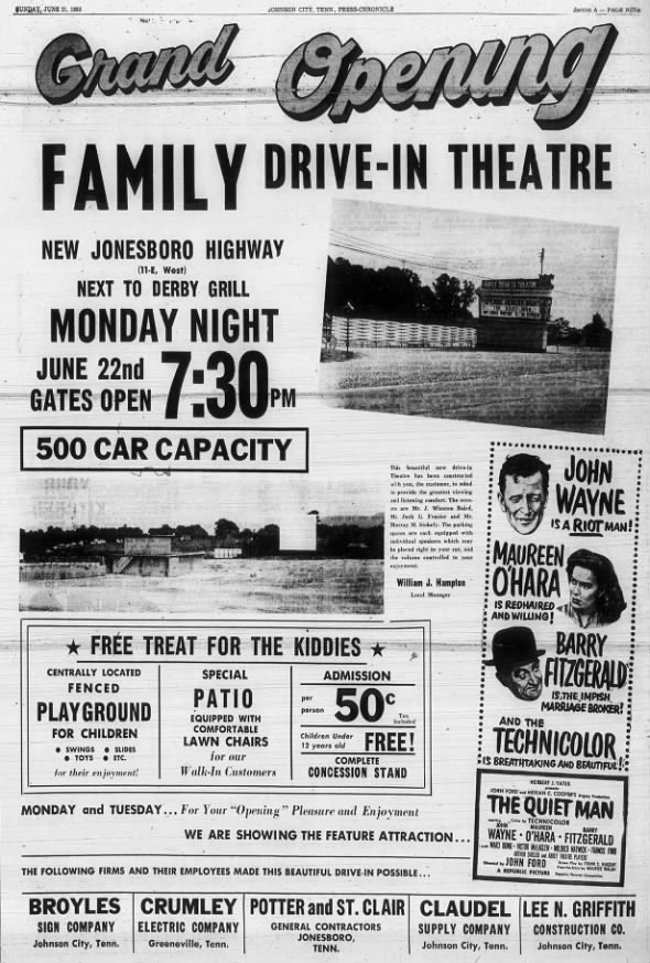 Family Drive-In opening