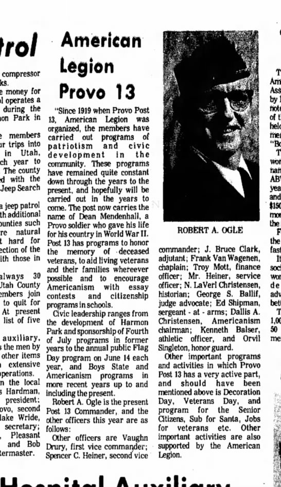 Feb 29, 1976 - Daily Herald - Sunday - Ufa compressor money for operates a during the...