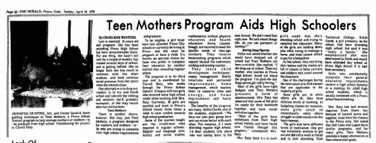 teen moms - Page 42-THE HERALD, Provo, Utah, Sunday, April...