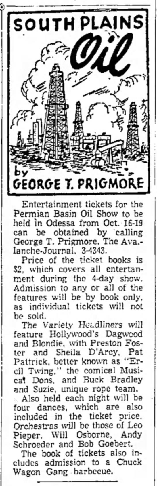 - I SOUTH PLAINS GEORGE T. PRICMOftf...