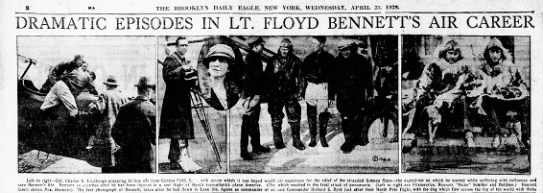 headlines - DRAMATIC EPISODES IN LT. FLOYD BENNETT'S AIR...