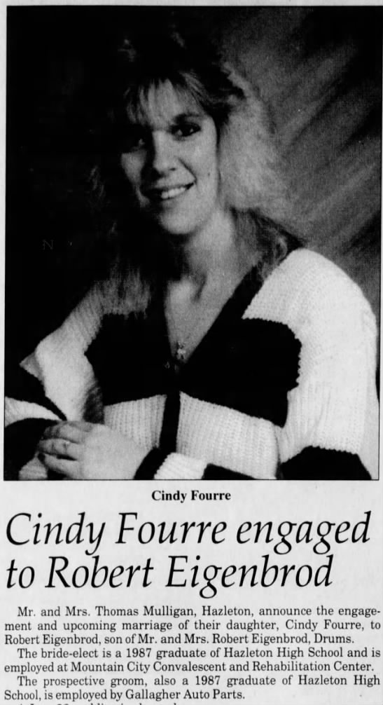 Engagement Announcement - Cindy Cindy Fourre engaged to Robert Eigenbrod...