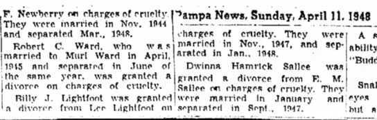 - P. Newberry on charges of cruelty.' They were,...