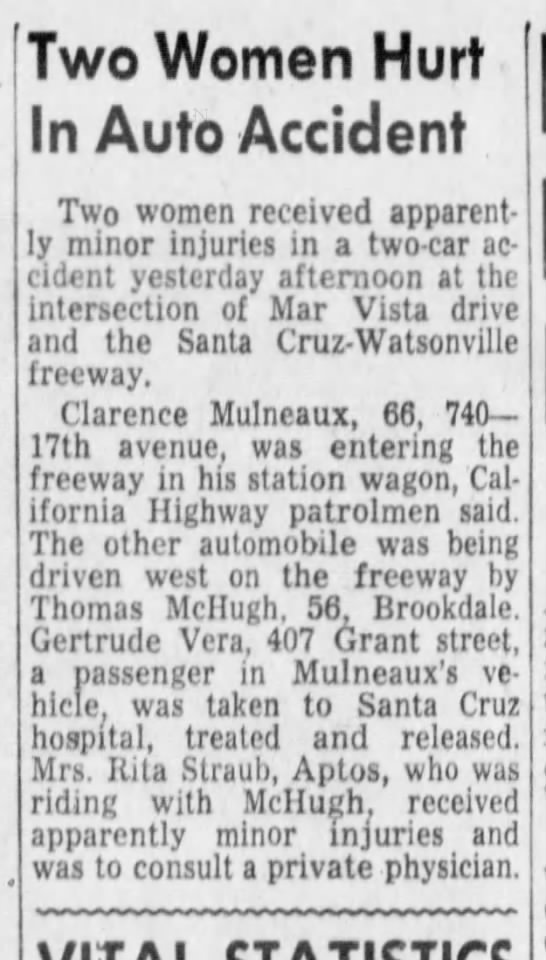 March 30, 1962 - Two Women Hurt In Auto Accident Two women...